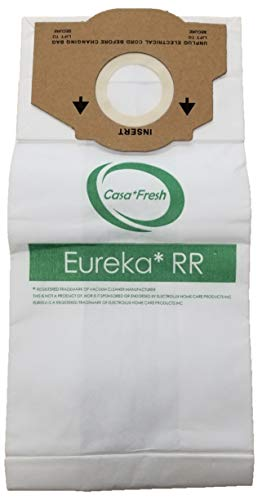 12 Eureka Style RR Vacuum Bags Designed to Fit Eureka Boss 4870 Series Upright Vacuums, Compare to Part # 61115, 61115A, 61115B, 63295A, 62437
