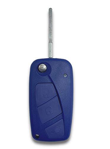 Shoppy Lab Shell Case y Hoja de Repuesto de Control Remoto de Tres Botones Compatible con Fiat Grande Punto Panda Bravo Stilo Ducato Doblo Ulysses Full Key con Carcasa y Hoja extraíble
