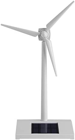 Mini Solar Energy Wind Mill Toy Desktop Wind Turbine Model Solar Powered Windmills Home Decor product image