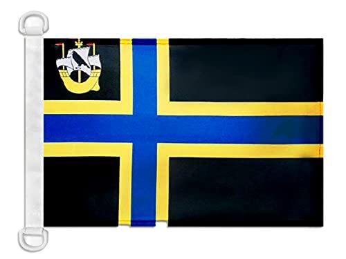 AZ FLAG Bandera Nautica del Condado DE Caithness 45x30cm - Pabellón de conveniencia DE Caithness 30 x 45 cm Anillos