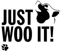 ただ、ウーそれ犬の足跡ファッション車のステッカービニールDecal13.4cm * 11.3cm2pcs、ホワイト、13.4センチメートル* 11.3センチメートル Rebirtha (Color : Black, Size : 13.4cm*11.3cm)