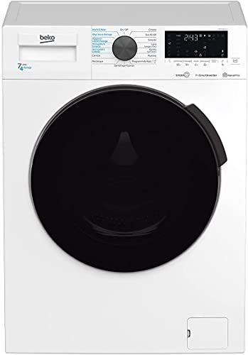 HTE7726XA-IT - Lavasciuga SLIM a Vapore SteamCure 7kg + 4kg - nuova classe D - 1400 giri - Prosmart Inverter