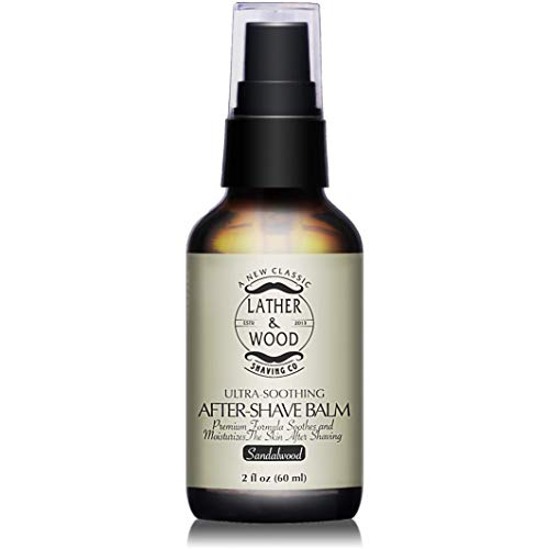 Best After-shave Balm, Premium Aftershave Lotion, Soothes and Moisturizes Face after shaving - Sandalwood Scent