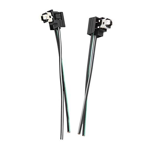 Conector de lámpara halógena, conector de arnés de cableado de enchufe de bombilla de lámpara de faro de coche de 2 piezas, línea de adaptador de enchufe para bombilla H1