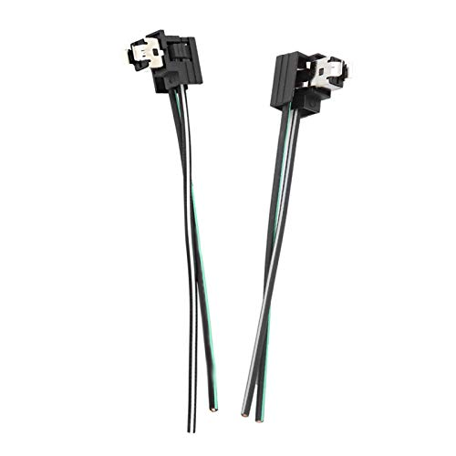 Conector de lámpara halógena, arnés de enchufe de faro duradero, fácil de usar, resistente al calor para bombilla H1, luz diurna, antiniebla/bombillas halógenas, LED/SMD
