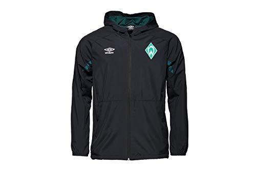 Werder Bremen Umbro Regenjacke Jacke (S, schwarz)