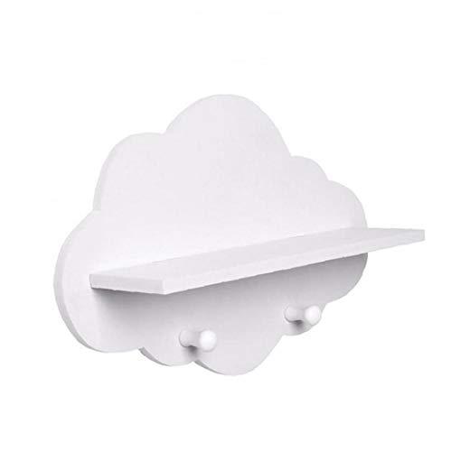 Los estantes de la nube en forma de nube de madera flotante Plataforma flotante blanca estantes de montaje en pared Escudo Junta exhibe...