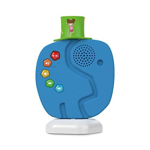 TechniSat TECHNIFANT - Audioplayer & Nachtlicht für Kinder im Elefanten-Erscheinungsbild (mit Audio-Inhalten bespielbares & wechselbares Hütchen, Bluetooth, Akku - kein Internet & kein Abo)
