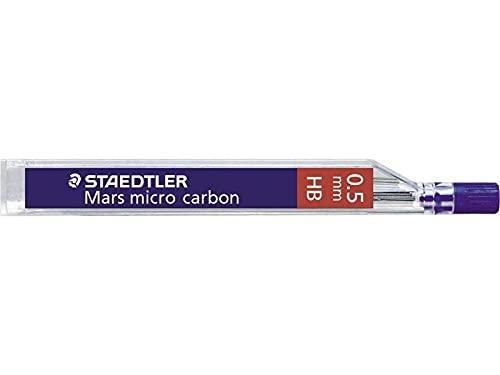 HB Staedtler Marsmicro - Lote de 12 minas (0,5 mm, policarbonato de alta calidad)