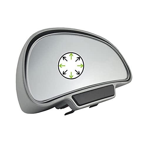 K38D TOP KFZ Auto toter Winkel Spiegel Außenspiegel Blindspiegel Fahrschulspiegel zusatzspiegel Auto, erleichtert das Rückwertsfahren und Einparken (Silber Rechts)