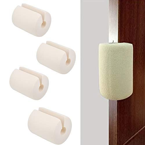4個セット ドアストッパー ドアストップ NBR ゴム製 無毒材質 赤ちゃん 子供 指はさみ防止 ドア 怪我防止 玄関 扉 引き戸 引き出し用 防護クッション C型 ホワイト
