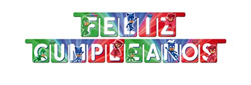 PJ Masks 0789, Guirnalda Fiestas y cumpleaños, Producto de cartón