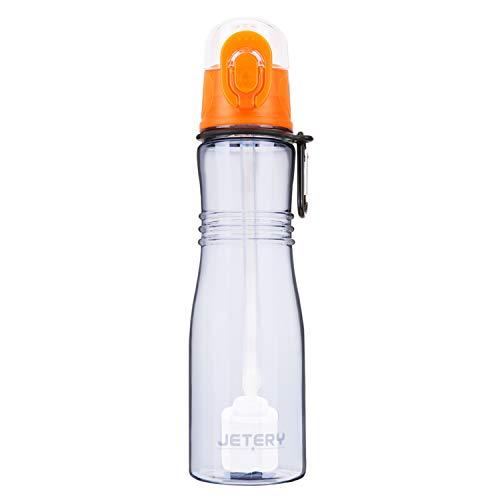 JETERY Botella de Agua Deportiva con Filtro