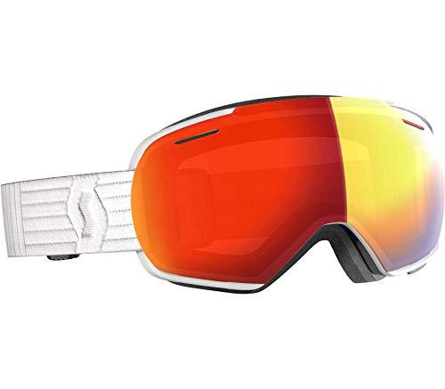 Scott Linx Goggle Rot-Weiß, Skibrille, Größe One Size - Farbe White - Enhancer Red Chrome