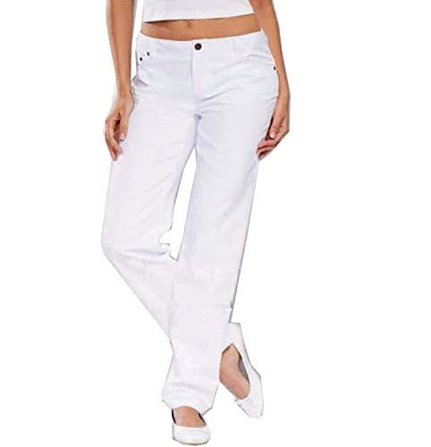 Whitewear Demin Damen Jeans Brit Baumwollhose Berufshose Pflege Hose weiß Gr. 38