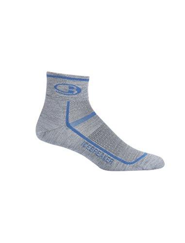 Icebreaker Merino Mini chaussettes de sport ultralégères pour homme avec coussin athlétique, Twister HTHR/bleu mer, XL