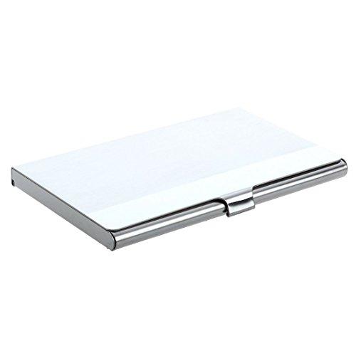 Sodial (R) - Tarjetero de acero inoxidable y aluminio