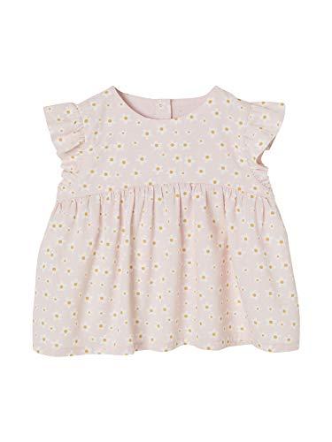 Vertbaudet - Camiseta con volantes para bebé Rosa pálido estampado 18 Meses