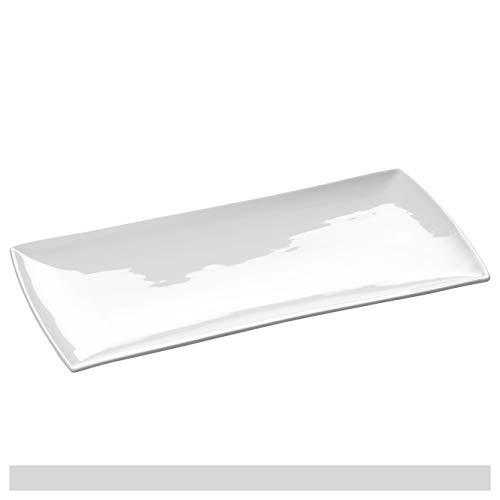 Maxwell & Williams Servierplatte, Porzellan, Weiß, 36 x 18 cm