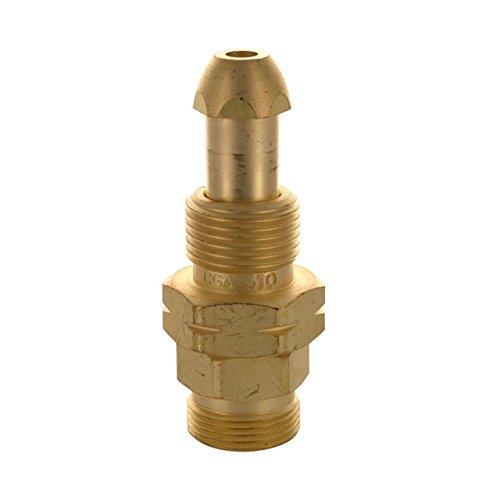 Western Enterprises 315 Brass Cylinder Adaptors, from CGA-510 POL Acetylene to CGA-520'B' Tank