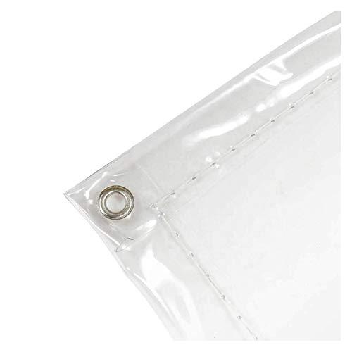 WZNING Cubierta impermeable de lona al aire libre transparente, lona del ejército de Armee transparente con gruesas ojales resistentes a Ripstop para muebles de exterior, 31 tamaños Durable y protecto