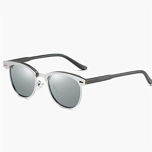 WDDYYYBF zonnebril gepolariseerde zonnebril mannen ontwerper Vintage Eyewear La Skibril zilver