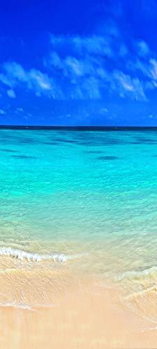 Bilderdepot24 Türtapete selbstklebend | Sandstrand Bahamas | in 90x200 cm | einteilig Türaufkleber Türfolie Türposter | Wand-deko Dekoration Wohnung | 11253a