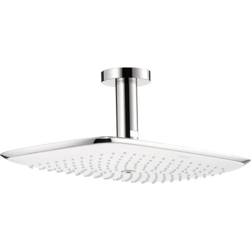 Hansgrohe 27390401 Puravida 400 Showerhead with Ceiling Mount, White Chrome