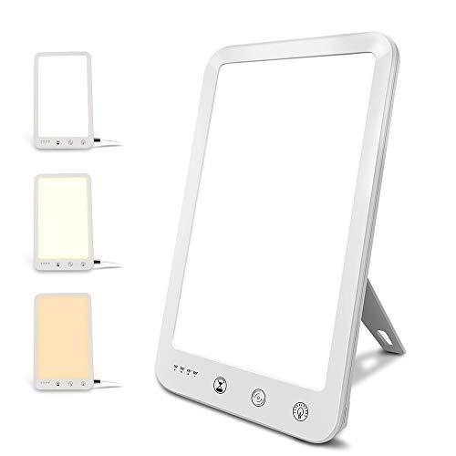 KOTONAMI Tageslichtlampe, Vollspektrumlampe USB Kabel, 10000 Lux Lichttherapielampe Gegen Winterdepressionen LED SAD Light UV-Freie Lichttemperaturverstellbarkeit und Timer Touch-Steuerung
