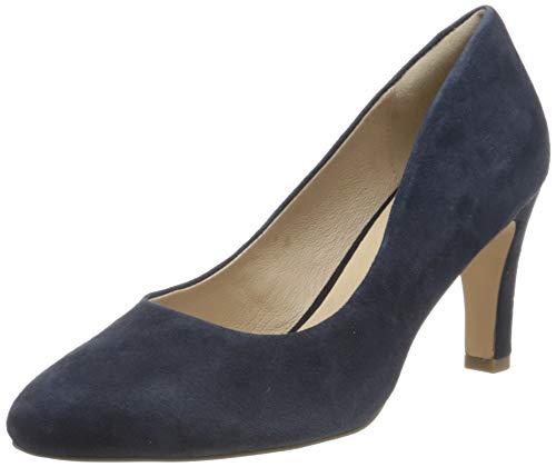 Caprice Damen Isabella Pumps, Blau (Ocean Suede 857), 38.5 EU