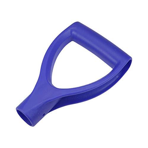 sourcing map Gabelschaufelgriff Schaufel D Griff 32mm Innendurchm. PVC Blau zum Graben Rechenwerkzeug