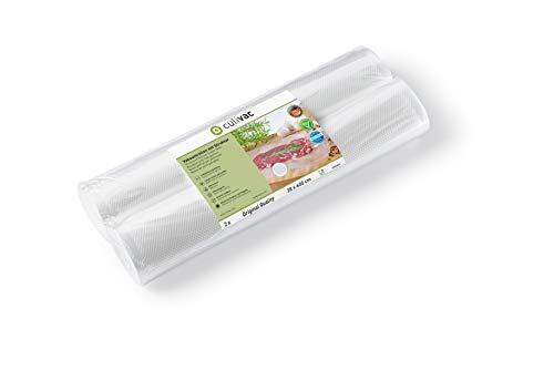 culivac Rollos de plástico para envasar al vacío Standard de 30 x 600 cm, 2 Rollos (R30600S)