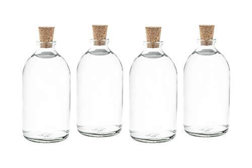 casavetro 25 x 100 ml kleine Flaschen Mini-TR inklusive Korken Glasflasche klar Likörflaschen