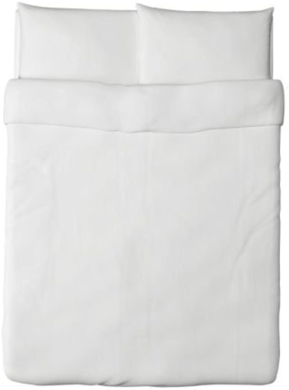 IKEA Dvala Duvet Cover and Pillowcase, White, Full Queen (Double Queen)
