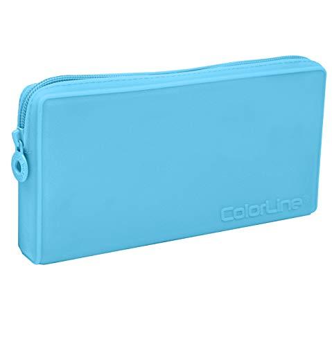 ColorLine 58711 Trousse plate multifonction en silicone Bleu foncé 21 x 10,5 x 3 cm