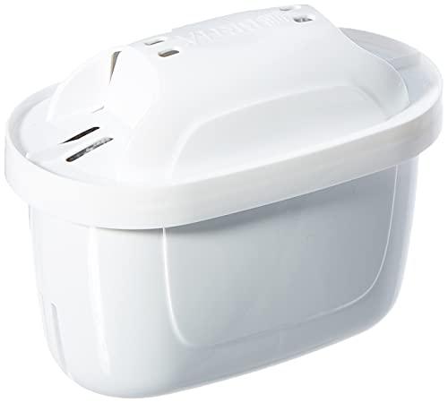 Brita 1023124Maxtra Plus Pack 4–Cartuccia filtraggio Acqua, Esterno–Plastica, Interni–Carbone Attivo, scambio ionico, Bianco, 10x 5,5x 7cm