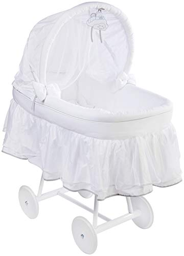 Best Review Of Italbaby Aurora Cloud Big Wheels Cradle, White, Multi-Color, One Size