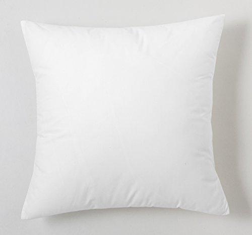 ESTELA - Funda de cojín Combi Liso Cala Color Blanco - Medidas 40x40 cm. - 100% Algodón - 144 Hilos