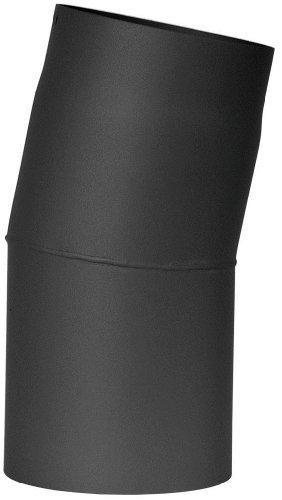 Jeremias Ofenrohr-Bogen 150 mm, 15 Grad, schwarz, FERRO1412150