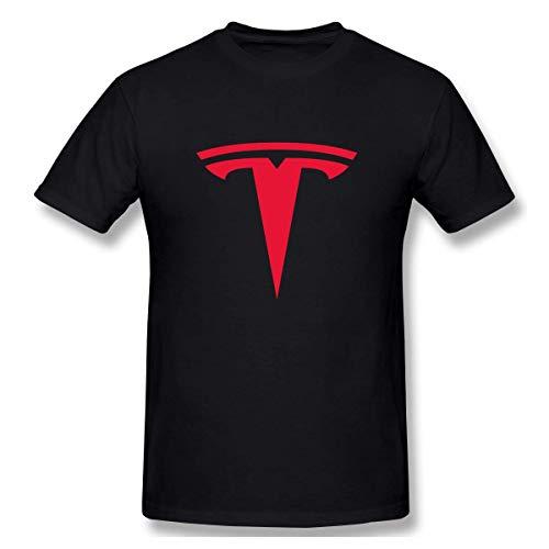 LLZQJ-DAA Playera para Hombre Tesla Motors Emblem Crew