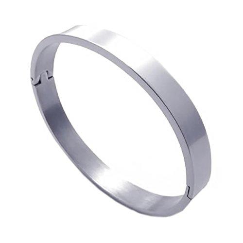 KONOV Schmuck Herren Damen Armband, Edelstahl Armreif, Silber