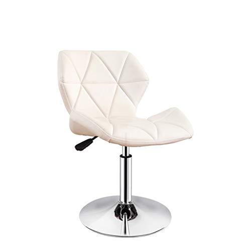 npcs Silla para videojuegos, moderna, giratoria, de piel sintética, con patas cromadas, con ruedas y sillas de escritorio elevables (color: blanco, tamaño: B)