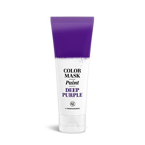 Color Mask Paint Semi-Permanent Deep Purple Hair Color Cream - Color Mask Paint Deep Purple, Direct Hair Dye 2.55 oz