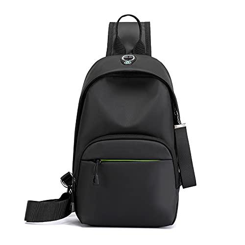 QIANJINGCQ nueva bolsa de pecho para hombre, bolsa de pecho diagonal de tela de nailon, todo fósforo, informal, con un solo hombro, bolsa de pecho, mochila pequeña de viaje repelente al agua