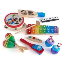 Disney Mickey Mouse Deluxe Band 10 Piece Musical Instrument Set