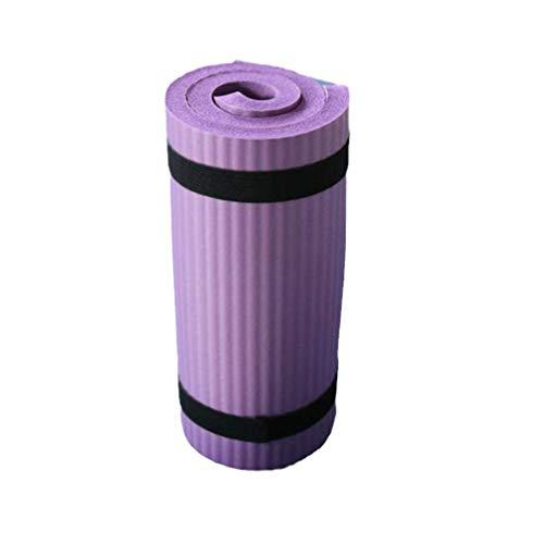Esterilla de yoga para ejercicios de fitness, mini antideslizante, auxiliar, fitness, pilates, plegable, portátil, a prueba de sudor, yoga, color morado