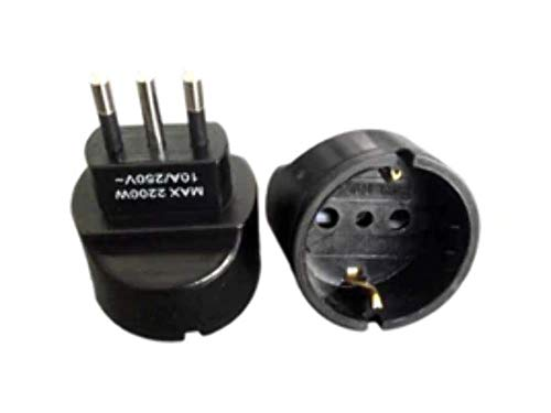 Preisvergleich Produktbild MicroConnect petravel2b Type L (IT) Type F Black Power Plug Adapter Power Plug ADAPTERS