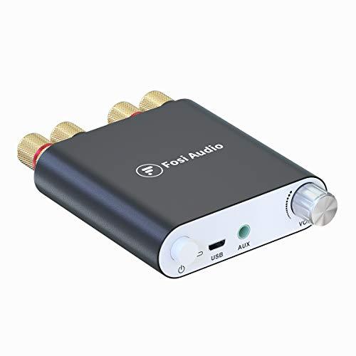 Amplificatore di potenza Bluetooth Ricevitore stereo senza fili Mini 2 CH Hi-Fi Digital Amp 100W x 2 con alimentazione DC19V - Fosi Audio ZK-1002D