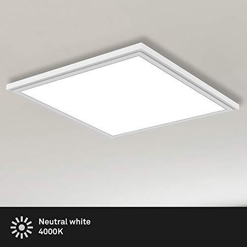 Briloner Leuchten Panel, LED Deckenlampe, 22 Watt, 2.200 Lumen, 4.000 Kelvin, Weiß, 45x45cm, W