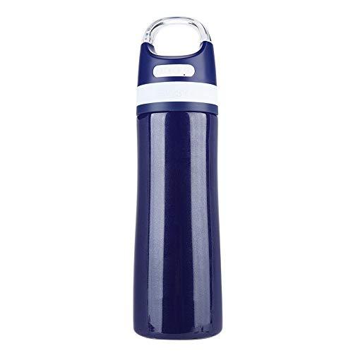Hakeeta nieuwe muziek thermosfles waterdichte bluetooth-luidspreker originaliteit roestvrij staal waterdicht Bluetooth muziek thermos mok luidspreker, blauw